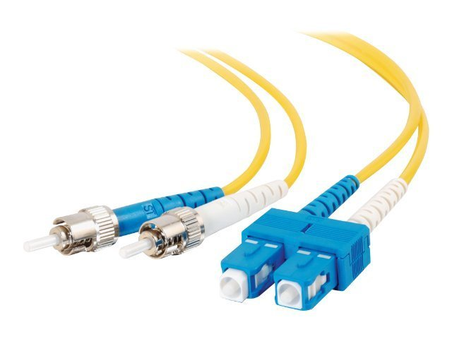 C2G Fiber Patch Cable, SC-ST, 9 125, Duplex, SM, Yellow, 4m, TAA
