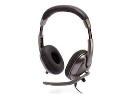 Cyber Acoustics AC-8000 Stereo Headset for Kids, Silver, AC-8000, 12379249, Headsets (w/ microphone)