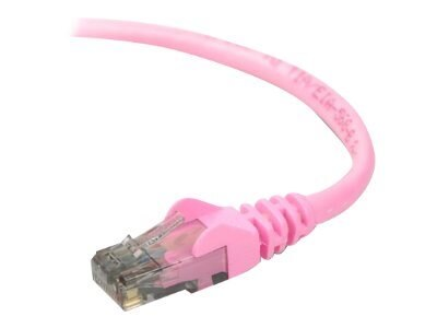 Belkin Cat6 UTP Patch Cable, Pink, Snagless, 3ft, A3L980-03-PNK-S, 7477477, Cables