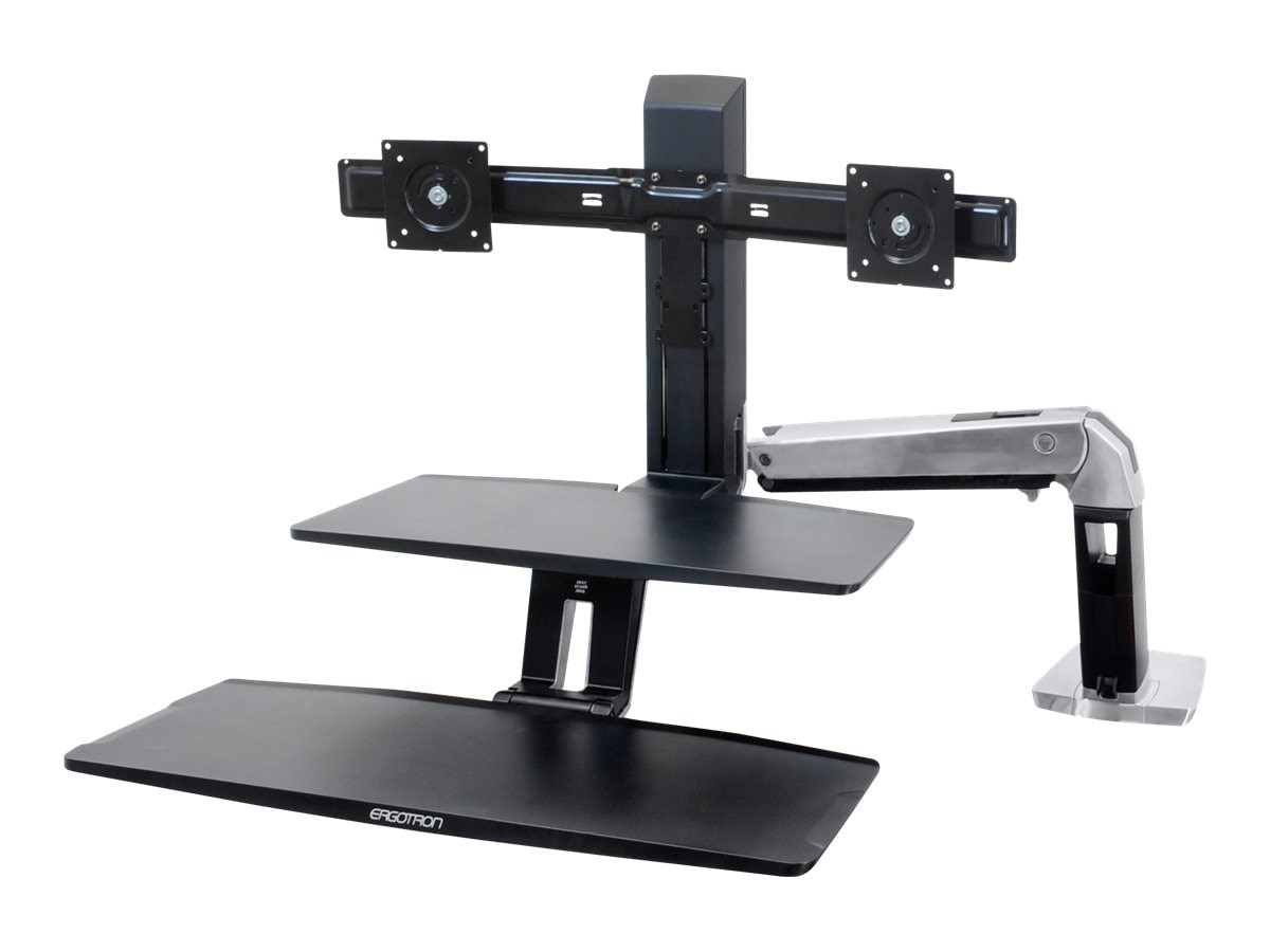 Ergotron WorkFit-A with Suspended Keyboard Tray, Dual, 24-392-026, 15801177, Ergonomic Products