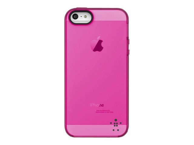 Belkin Grip Candy Sheer Case, Day Glow Blacktop for iPhone 5, F8W138TTC03, 14860837, Carrying Cases - Phones/PDAs