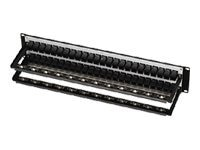 "Black Box 48-port CAT5e Feed-through Patch Panel, 19""w, Unshielded, JPM810A-R2, 8657349, Patch Panels"