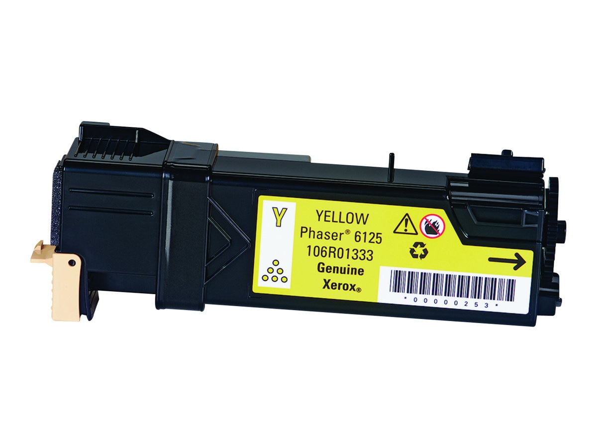 Xerox Yellow Toner Cartridge for Phaser 6125 Printers, 106R01333