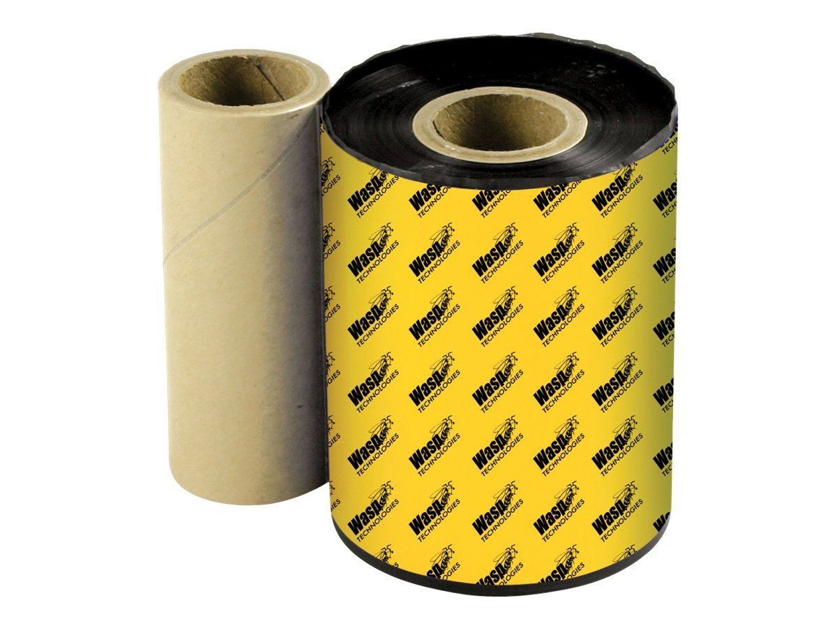 Wasp 4.33 x 820'  Black Wasp Premium WPR Wax-Resin Printer Ribbon, 633808431204, 5423897, Printer Ribbons