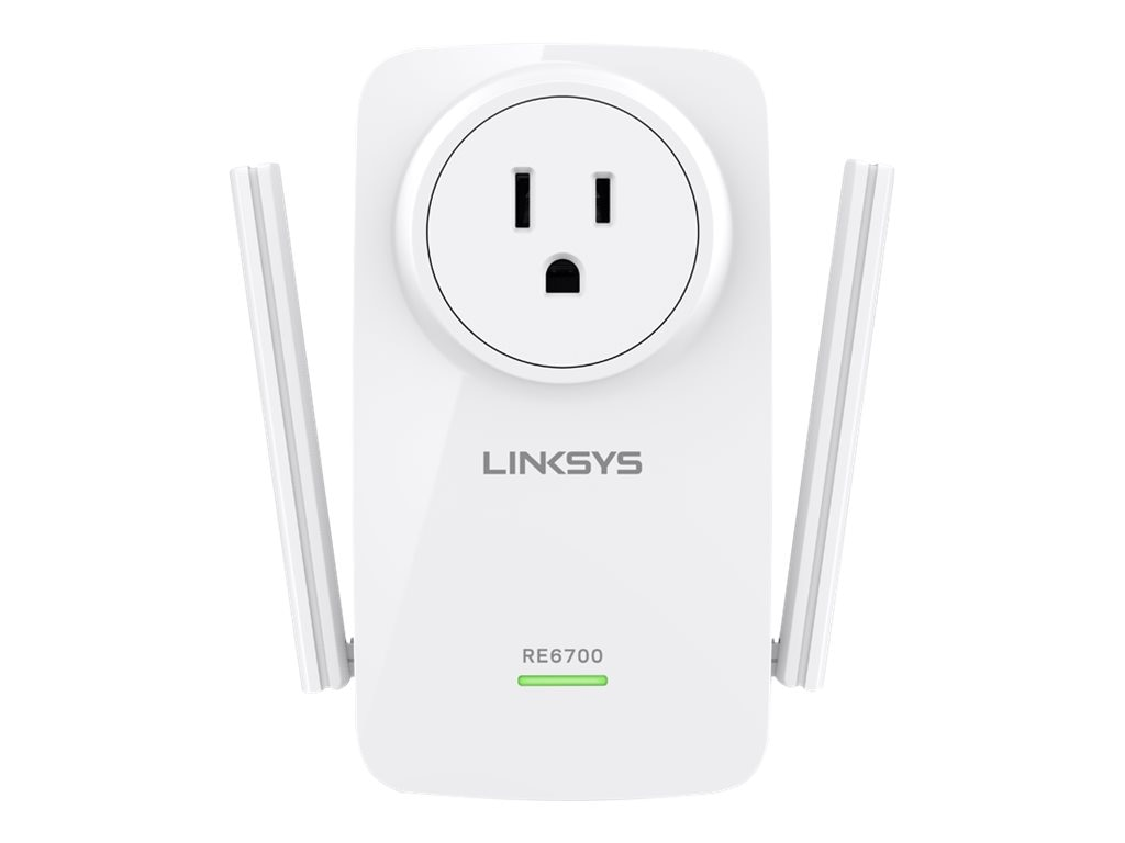 Linksys AC1200 Amplify Dual-Band WiFi Range Extender, RE6700, 21486951, Network Extenders