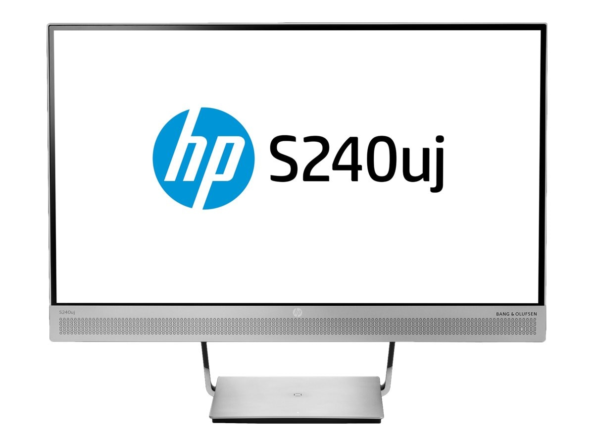 HP 23.8 S240uj QHD LED-LCD Wireless Charging Monitor, Black Silver
