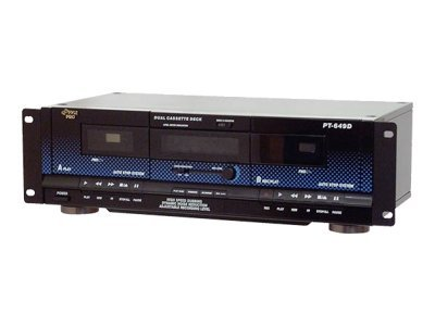 Pyle Dual Cassette Deck - Rack Mount Optional, PT649D