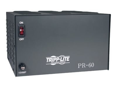 Tripp Lite 60-Amp DC Power Supply 120VAC Input to 13.8VDC Output, PR60, 5343993, Power Converters
