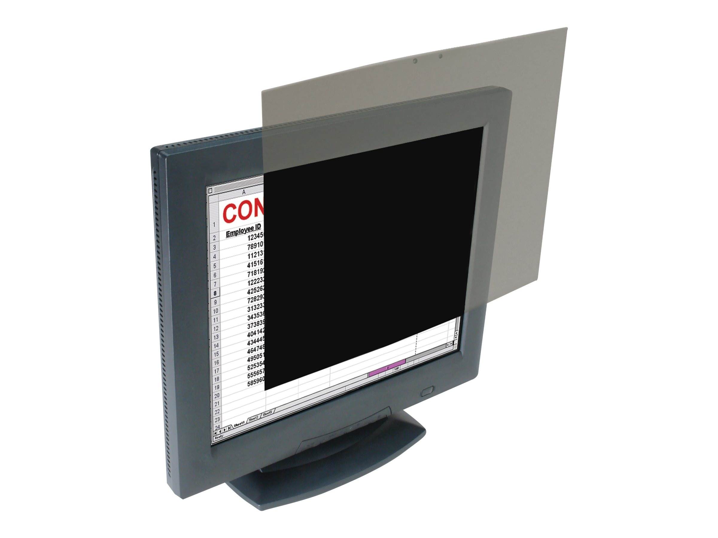 Kensington 19 Privacy Filter for LCD Display, K55781US, 12756391, Glare Filters & Privacy Screens