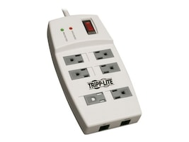 Tripp Lite Surge Protector 1080 Joules, (6) Outlets, 6ft Cord, TAA GSA, TLP66NETAA, 13004449, Surge Suppressors