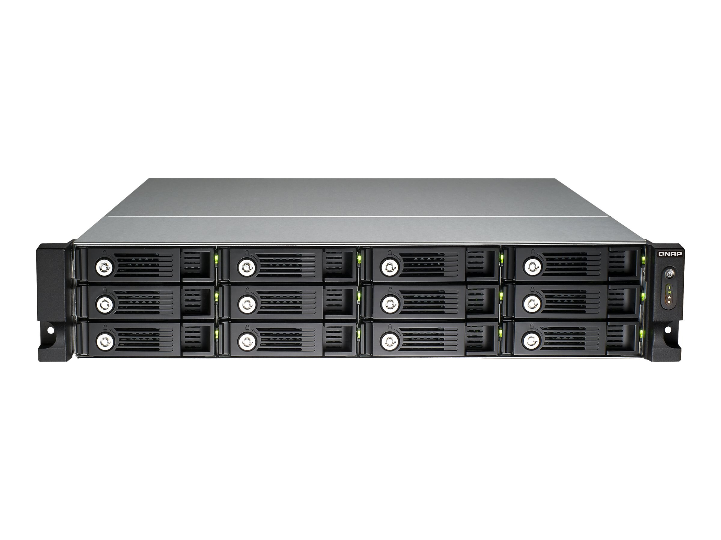 Qnap TVS-1271U-RP 12-bay High Performance Unified Storage w  32GB RAM, TVS-1271U-RP-I7-32G-US
