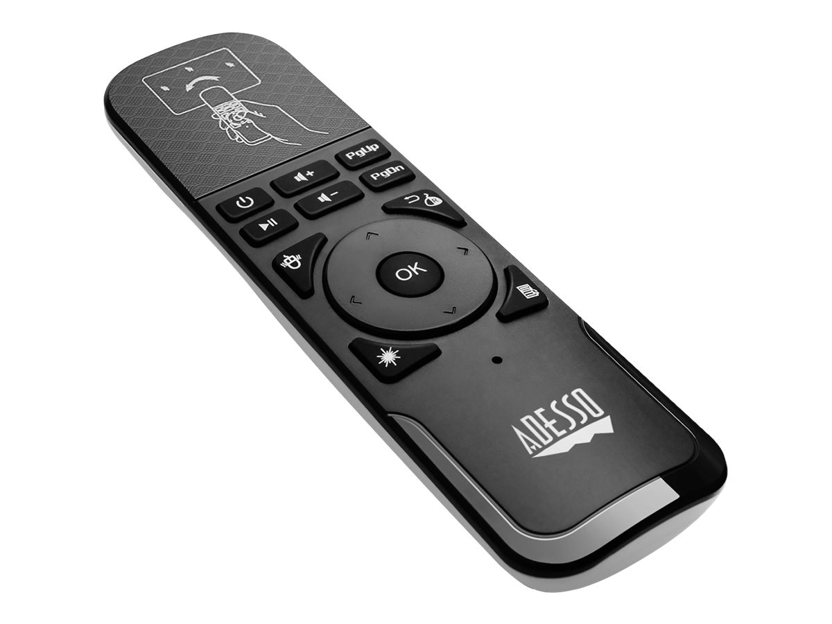 Adesso Air Mouse Remote w  Laser Pointer, WKB-4010UB