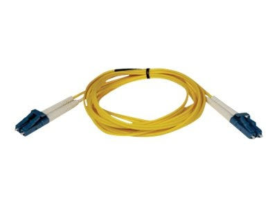 Tripp Lite LC-LC 8.3 125 Singlemode Duplex Fiber Patch Cable, Yellow, 2m, N370-02M, 5530861, Cables