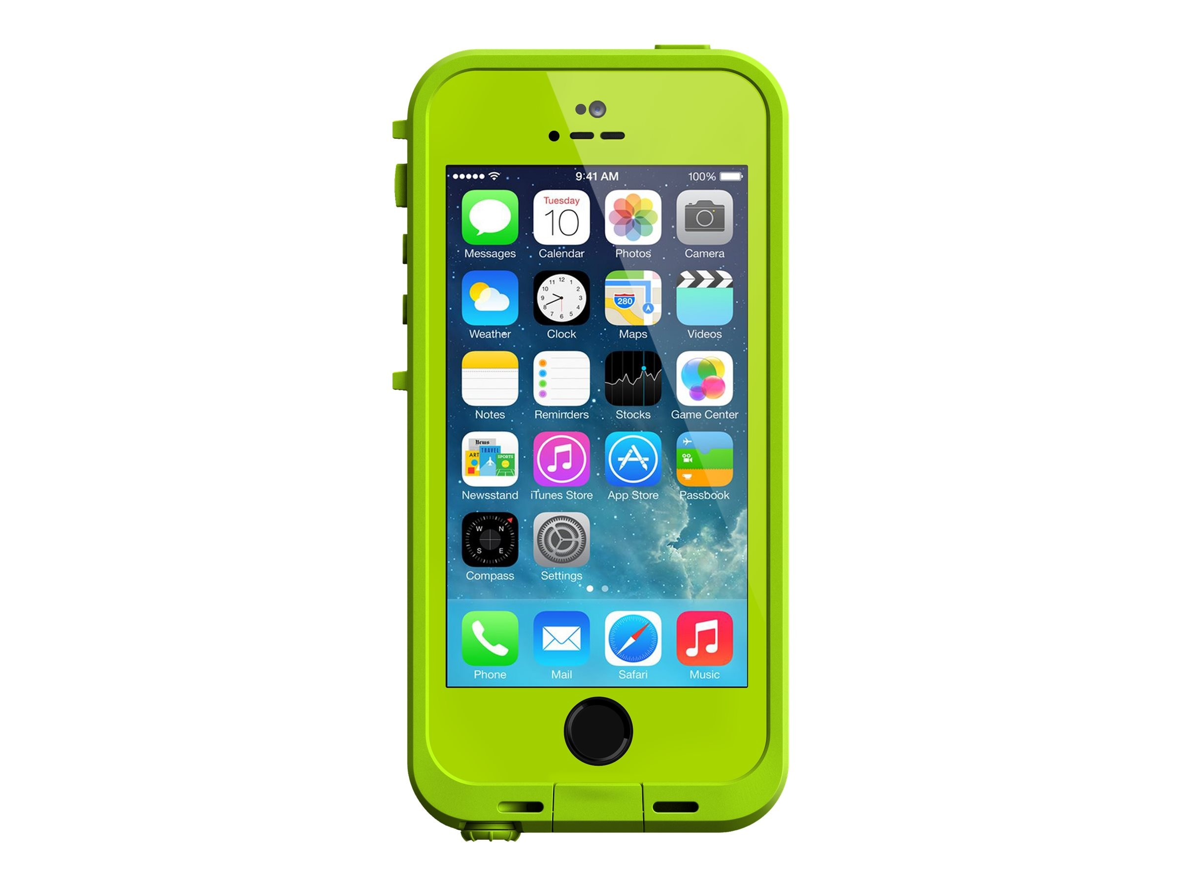 Lifeproof Fre Case for iPhonE 5 5S, Dark Lime Lime, 2115-06, 18817342, Carrying Cases - Phones/PDAs