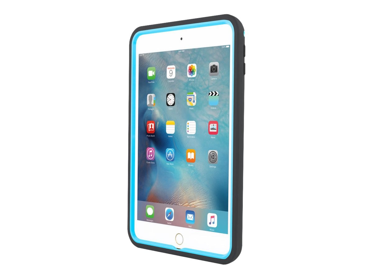 Incipio Capture Rugged Multi-Layer Case w  Removable Hand Strap for iPad mini 4, Black Cyan