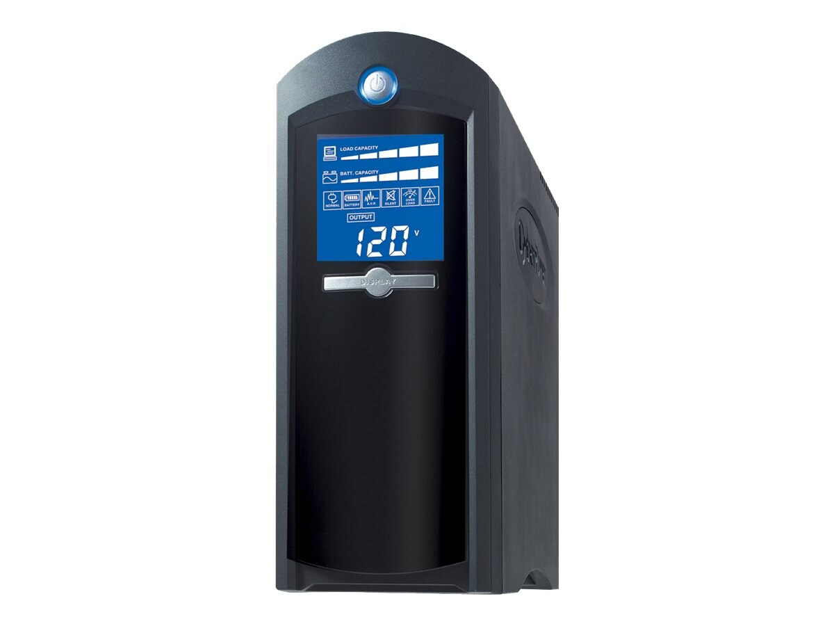 CyberPower 1500VA 900W UPS AVR, LCD, Phone Network Cable Coax Protection, CP1500AVRLCD, 7134520, Battery Backup/UPS