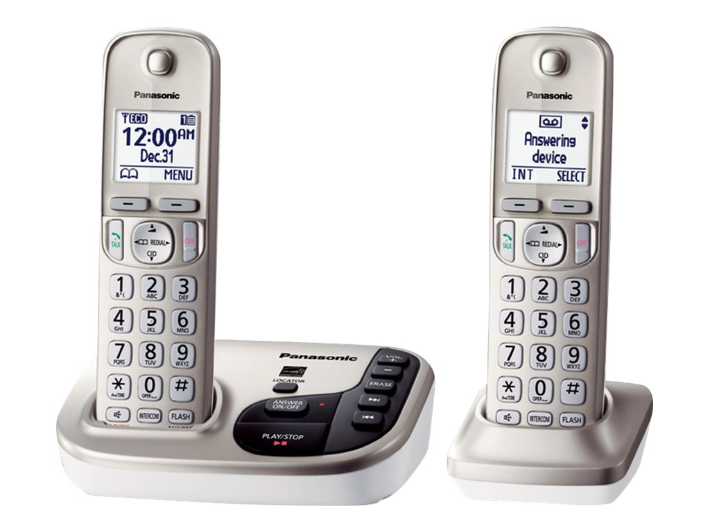 Panasonic Expandable Digital Phone w  Answering Machine & (2) Cordless Handsets, KX-TGD222N