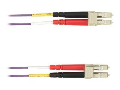 Black Box LC-LC 50 125 Multimode Plenum Fiber Optic Cable, Violet, 20m, FOCMP50-020M-LCLC-VT