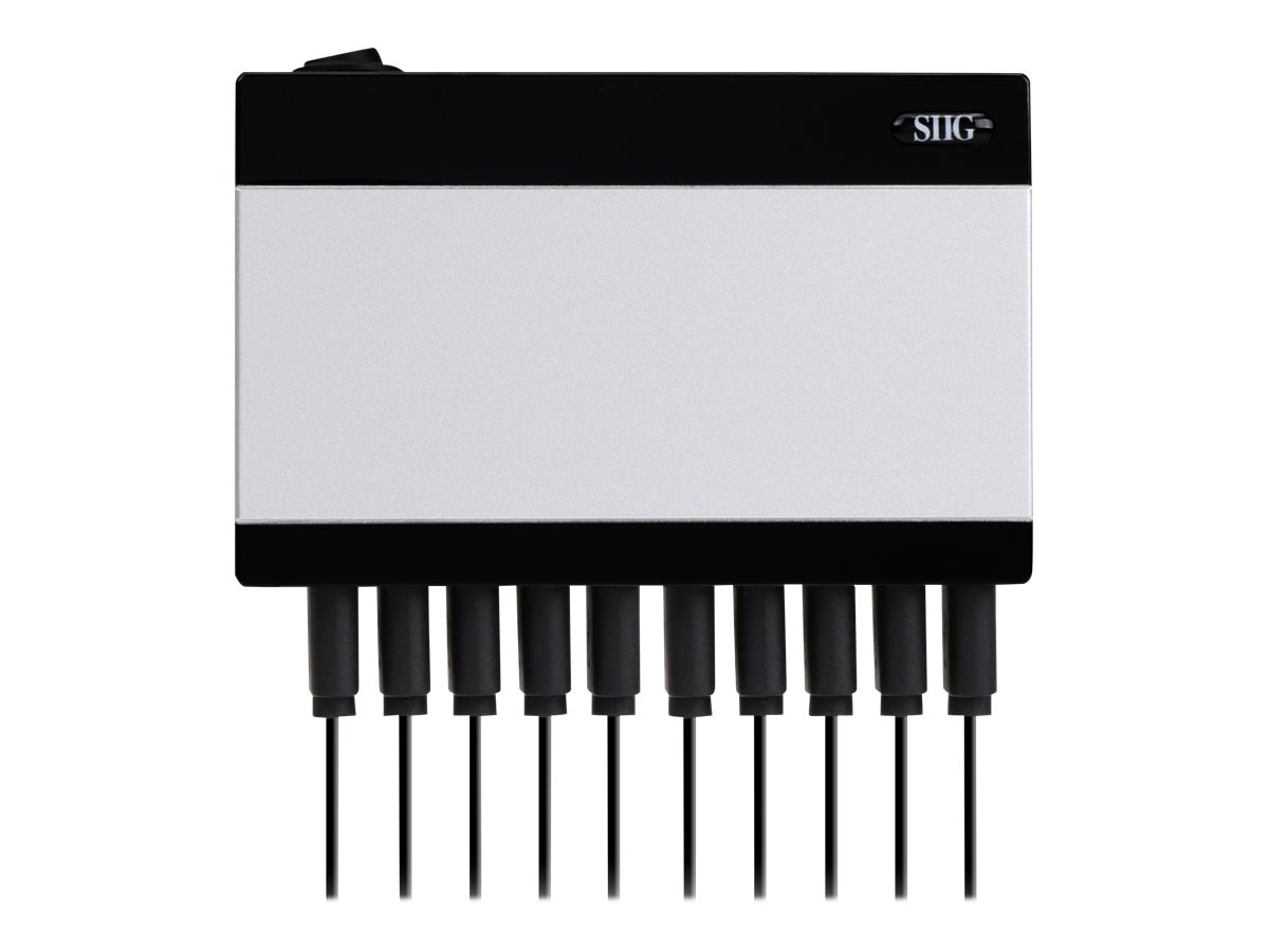 Siig 10-Port USB Rapid Charger 60W, AC-PW1512-S1