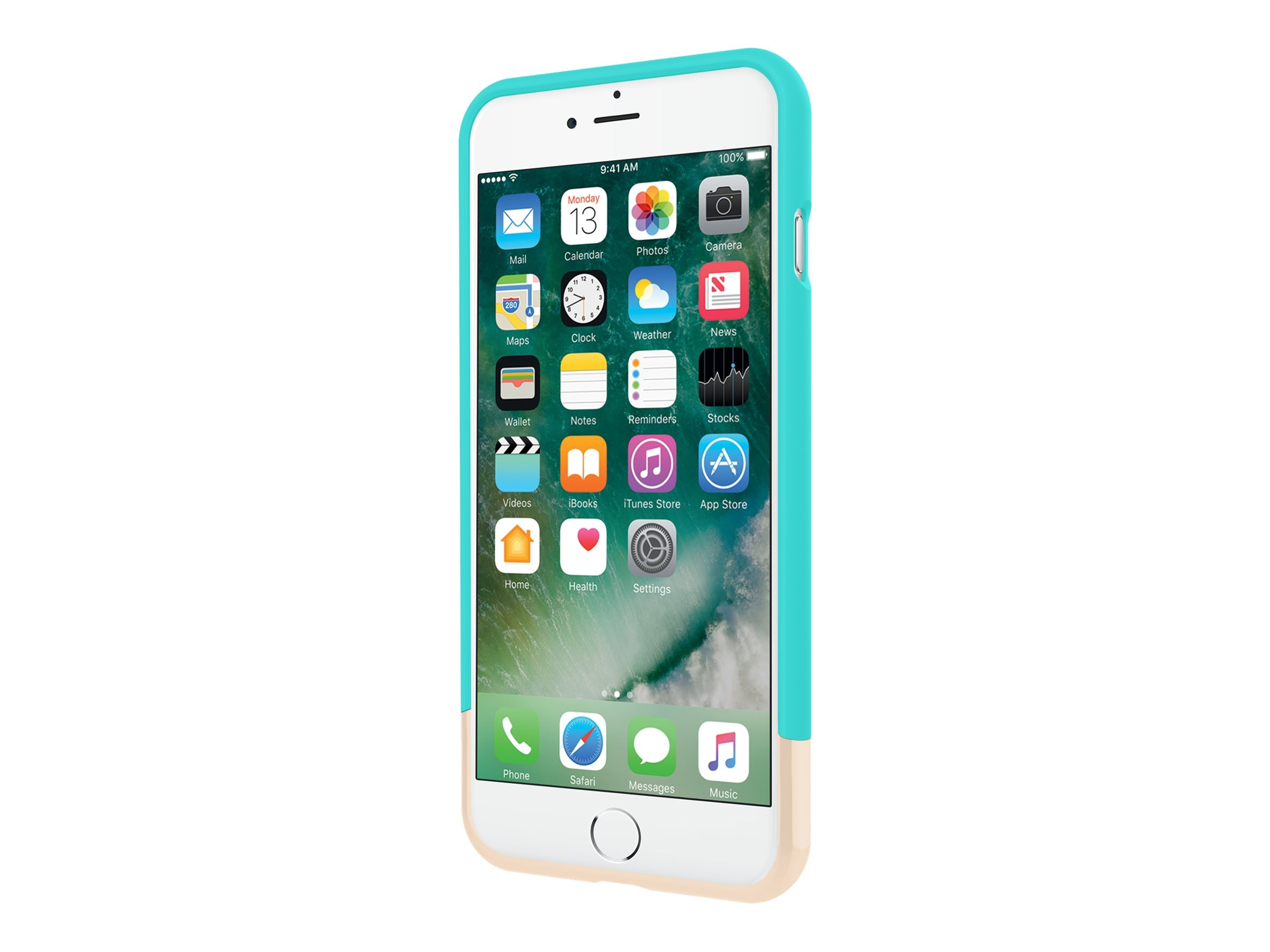 Incipio Edge Chrome Two-Piece Slider Case for iPhone 7 Plus, Turquoise Champagne