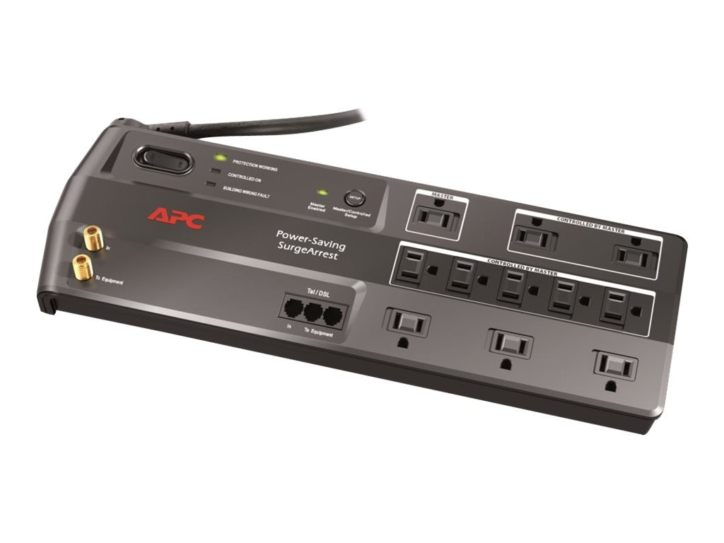 APC Power-Saving Performance SurgeArrest, 11 Outlets with Phone and Video Protection, 120V