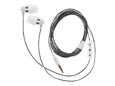 PNY Uptown 200 Series Earphone w  Apple Controller - White, AUD-E-202-WH-A-RB, 14780917, Headphones