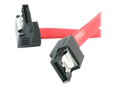 StarTech.com Latching SATA to Right Angle SATA, Serial ATA Cable, 12in
