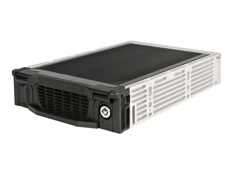 StarTech.com Black Aluminum 5.25in Professional SATA Hard Drive Mobile Rack Drawer, DRW115SATBK