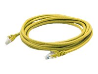ACP-EP CAT6A UTP Molded Snagless Patch Cable, Yellow, 10ft, ADD-10FCAT6A-YLW