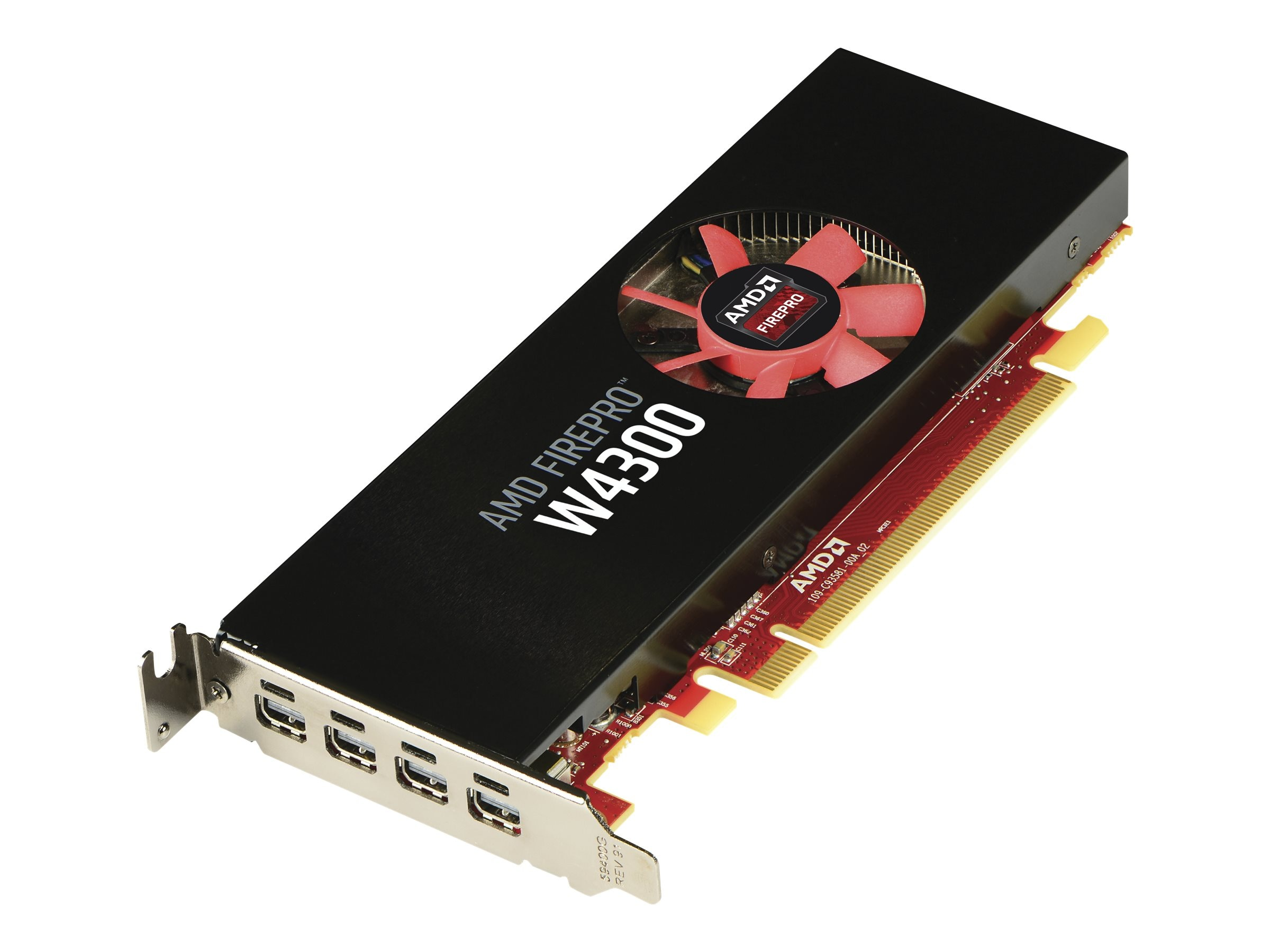 HP AMD FirePro W4300 Graphics Card, 4GB, T7T58AA