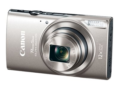 Canon PowerShot ELPH 360 HS Digital Camera, Silver, 1078C001, 31824045, Cameras - Digital - Point & Shoot