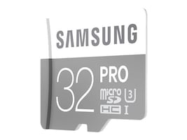 Samsung 32GB Pro Micro SDHC U3 Flash Memory Card with SD Adapter, Class 10, MB-MG32EA/AM, 30546442, Memory - Flash