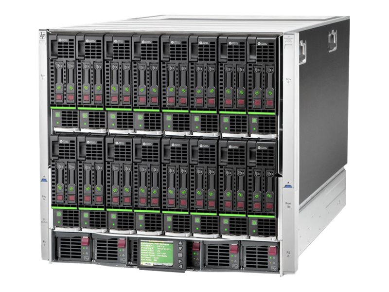 HPE BLc7000 10U Blade Enclosure 2xVirtual Connect 6xPower Supplies 10xFans, 714684-S21, 15422556, Cases - Systems/Servers