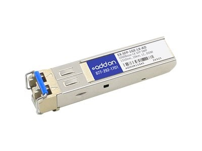 Add On 1000BLX SFP SMF F Juniper1310NM 10KM LC, EX-SFP-1GE-LX-AO, 16312050, Network Transceivers