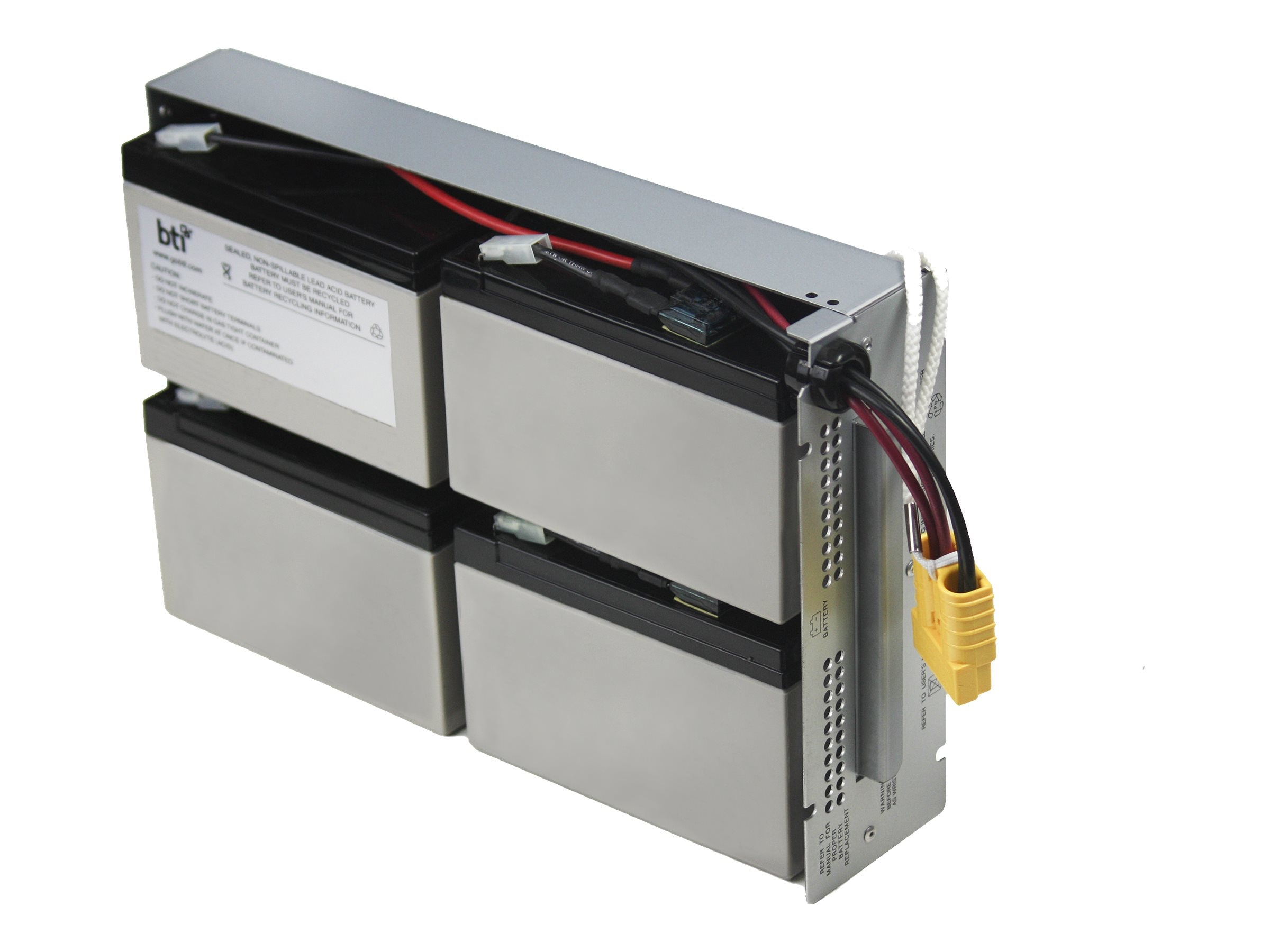 BTI Replacement Battery, RBC24, for APC SU1400RM2U, SUA1500RM2U, DLA1500RM2U Models