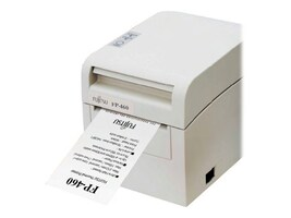 Fujitsu FP-460 Dual Interface Serial & USB Single Station Thermal Printer - White w  AC Adapter, KA02055-D717, 12402744, Printers - POS Receipt