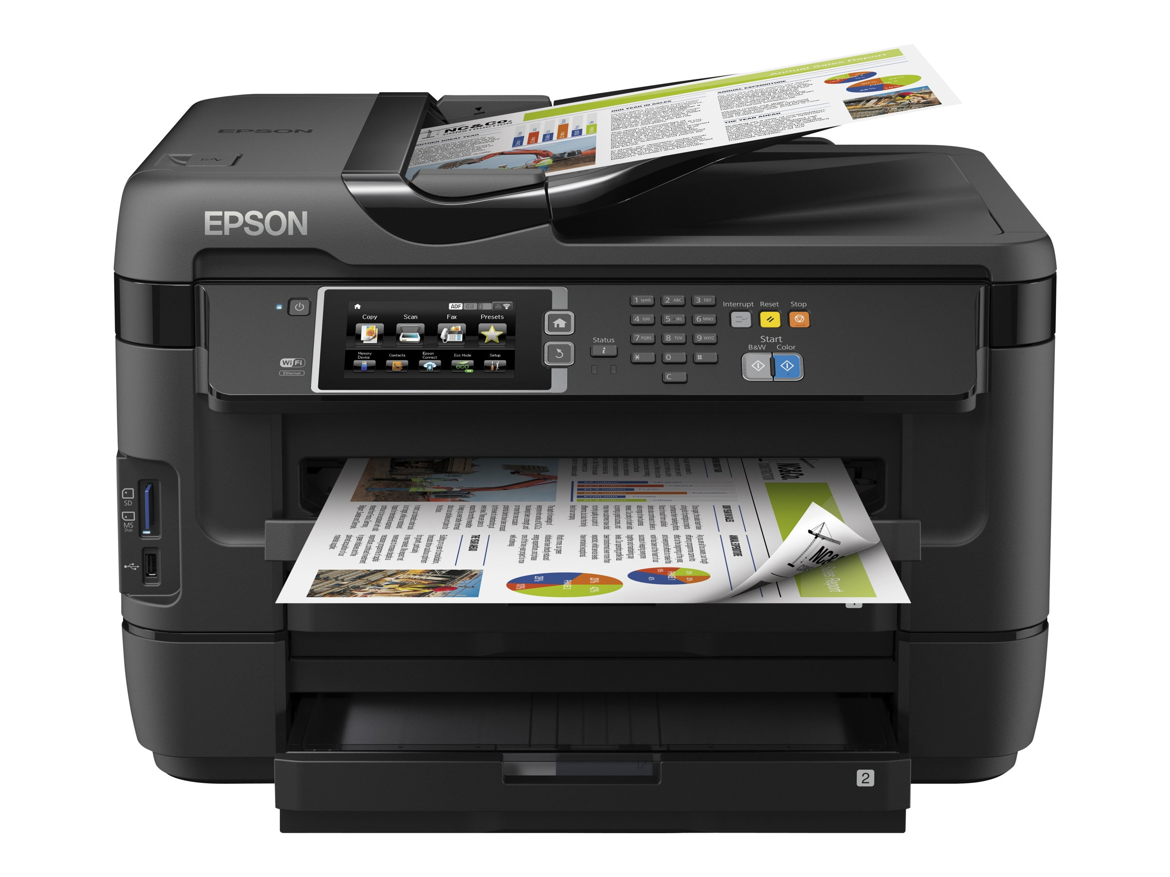 Epson WorkForce WF-7620 All-In-One Printer - $299.99 less instant rebate of $45.00, C11CC97201, 17456717, MultiFunction - Ink-Jet