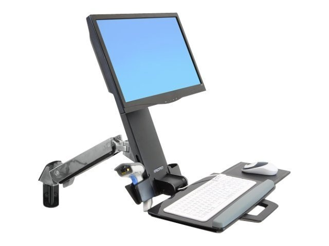 Ergotron StyleView Sit-Stand Combo Arm Mount, 45-266-026, 13324119, Wall Stations