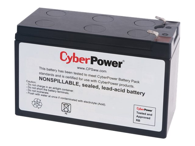 CyberPower UPS Replacement Battery Cartridge 12V 7Ah Battery, RB1270, 14775018, Batteries - Other