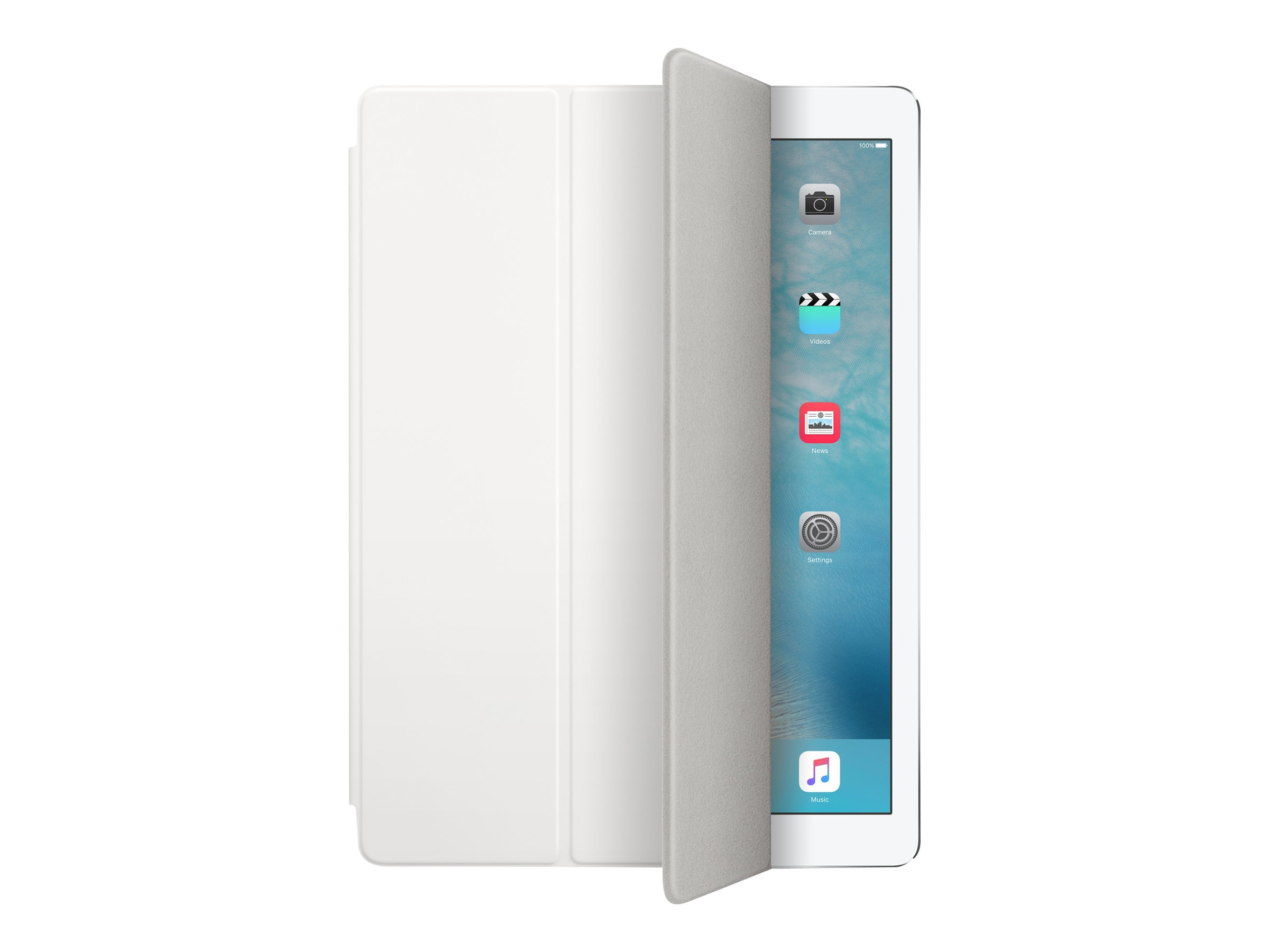 Apple Smart Cover for 12.9-inch iPad Pro - White, MLJK2ZM/A, 30769582, Carrying Cases - Tablets & eReaders