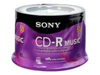 Sony 80min. CD-R Audio Media (50-pack Spindle), 50CRM80RS, 9954484, CD Media