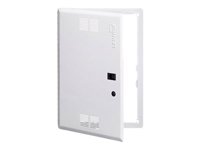 Leviton Structured Media Enclosure Premium Vented Hinged Door, 21