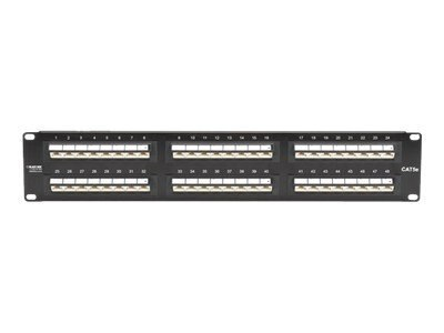 Black Box CAT5E 45degree Angle Port Patch Panel, JPM5E48-45ANG, 11522314, Patch Panels