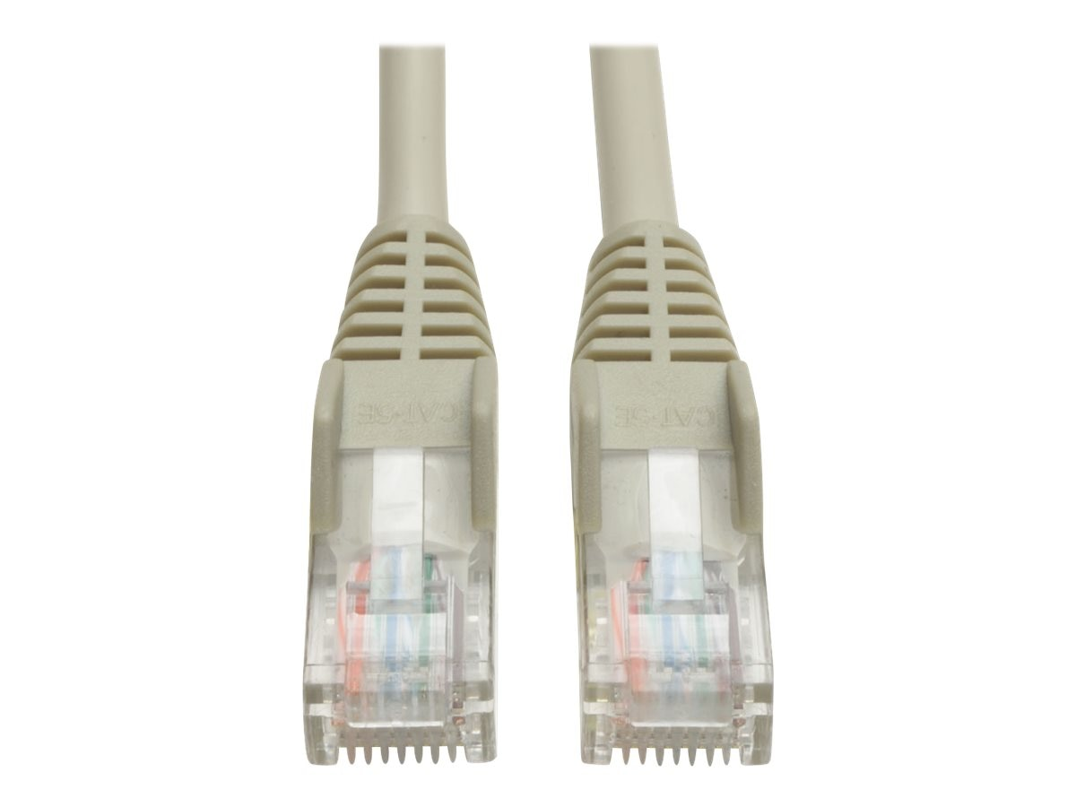 Tripp Lite Cat5e RJ-45 M M Snagless Molded Patch Cable, Gray, 12ft