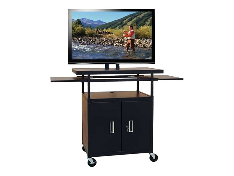 Buhl AV Flat Panel AV Cart with Locking Cabinet, Adjustable 34 to 54, PLCAB5434E, 8700511, Computer Carts