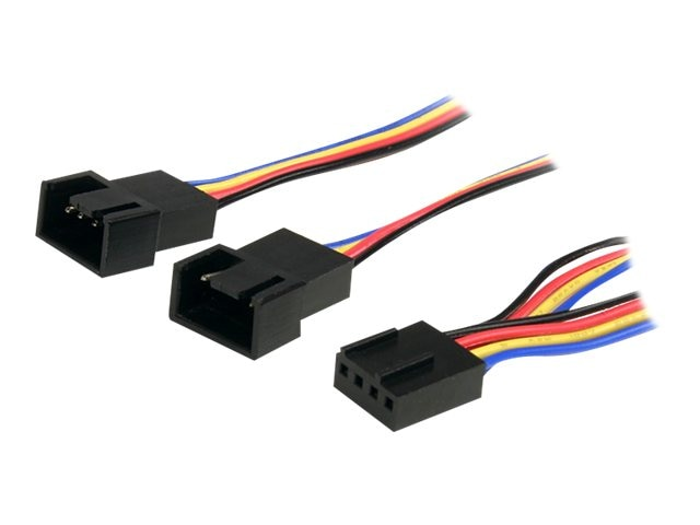StarTech.com 4-Pin Fan Power Splitter Cable, 12in, FAN4SPLIT12, 13096873, Cables