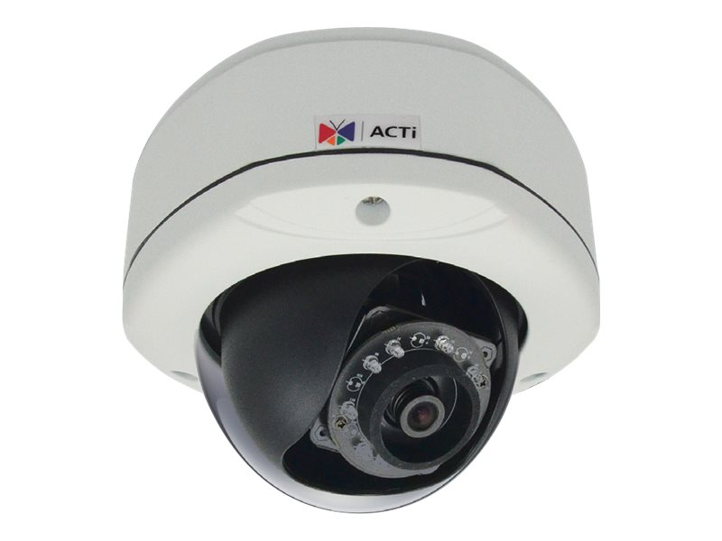 Acti 5MP Outdoor Dome with D N, Adaptive IR, Basic WDR, Fixed Lens, E73A