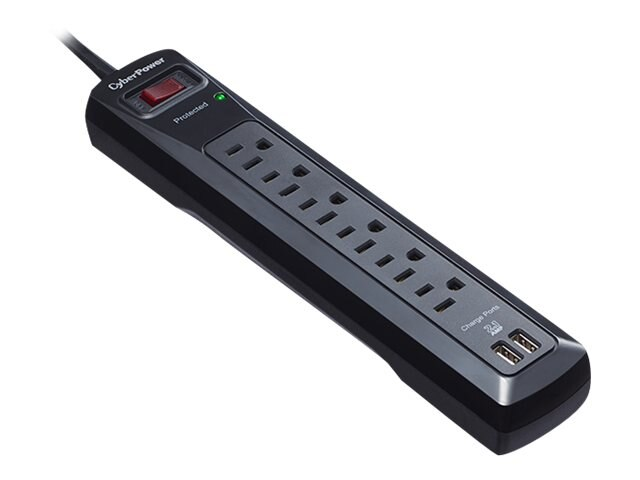 CyberPower Professional Series Home Office Surge Protector 1200 Joules (6) Outlets, CSP604U