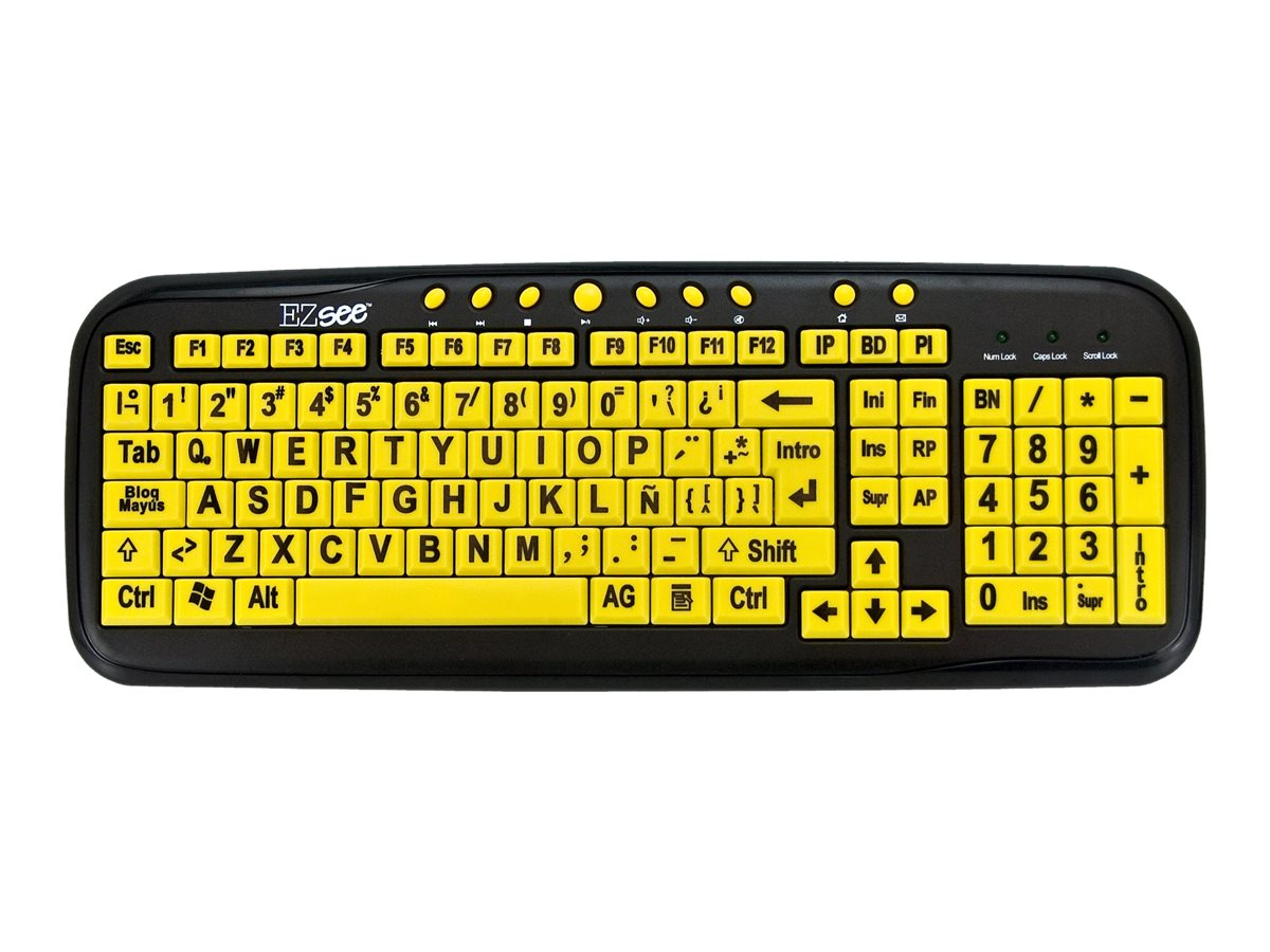 Ergoguys EZ-See Large Print Spanish-American Keyboard, Wired