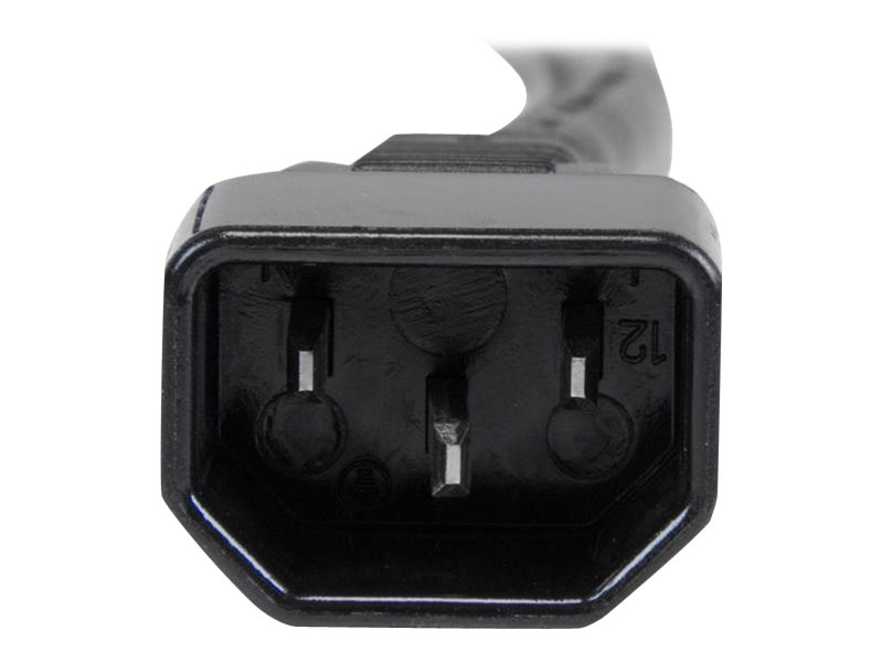 StarTech.com Computer Power Cord, C14 to C19, 125V 15A, 14AWG SJT, Black, 3ft, PXTC14C19143